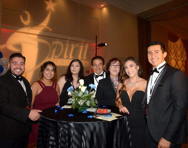 Spirit VIP ticket holders enjoy the VIP only reception held in the private Raincross ballroom during the 2017 Spirit of the Entrepreneur Awards event.