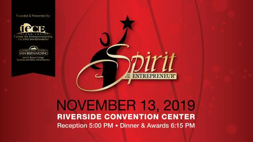FINALISTS ANNOUNCED FOR THE 2019 SPIRIT OF THE ENTREPRENEUR AWARDS! Image.